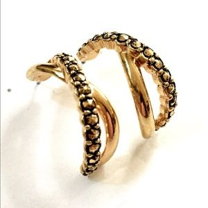Avon Gold Hoop Earrings Vintage